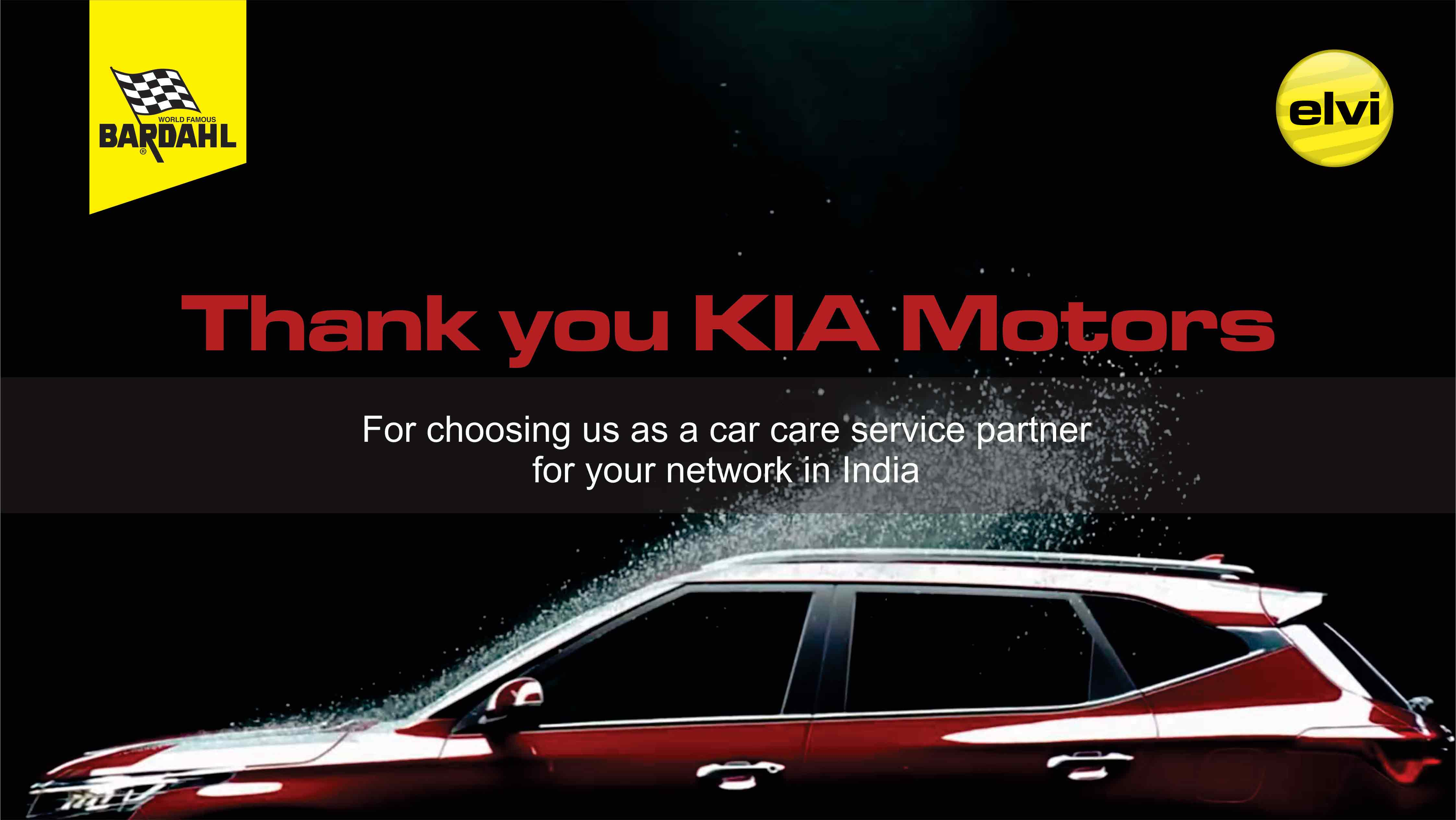 KIA Motors approved ELVI Bardahl as Car Care Service provider